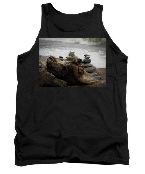 Driftwood Cairns Tank Top by Kimberly Mackowski