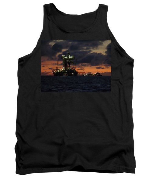 Drill Rig At Dusk Tank Top