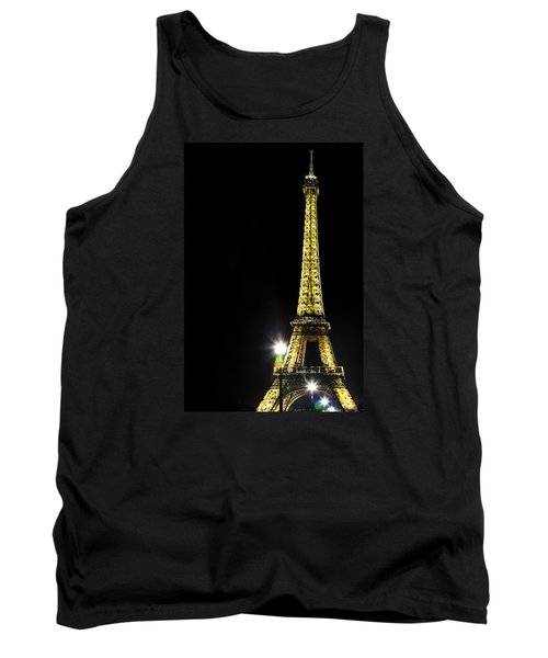 Tank Top featuring the photograph Eiffel At Night by Andrew Soundarajan
