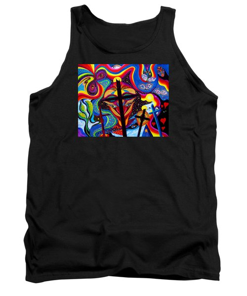 Tank Top featuring the painting Crosses To Bear by Marina Petro