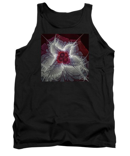 Tank Top featuring the digital art Festive Star by Karin Kuhlmann