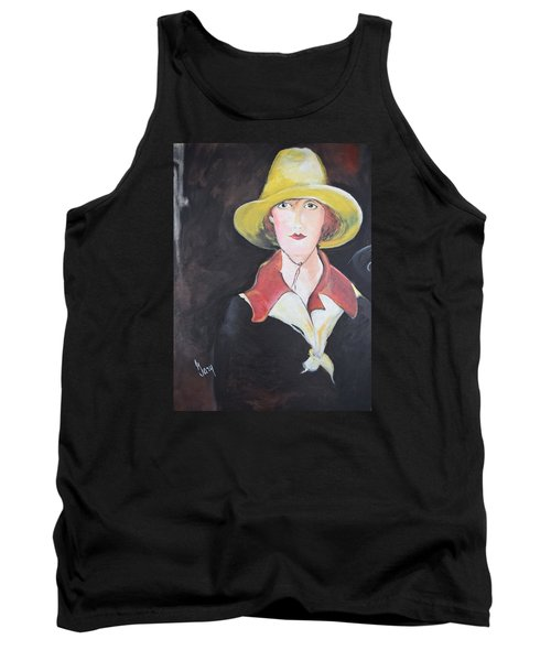 Girl In Riding Hat Tank Top by Gary Smith