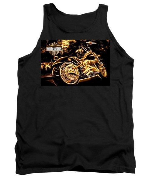 Tank Top featuring the photograph Harley-davidson by Aaron Berg