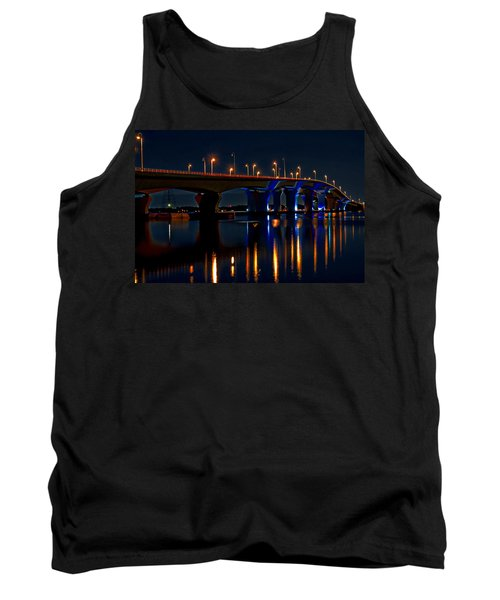 Hathaway Bridge At Night Tank Top