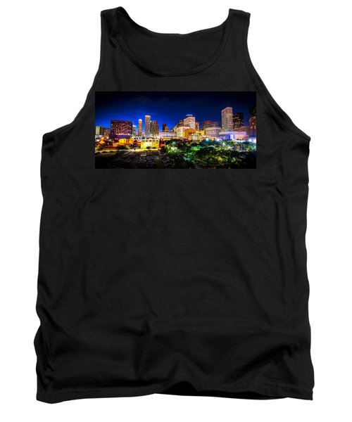 Tank Top featuring the photograph Houston City Lights by David Morefield