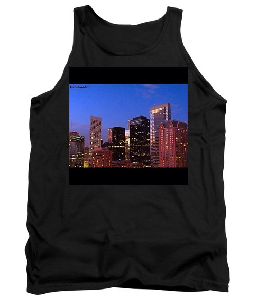 #houston #skyline At Dusk. #night Tank Top