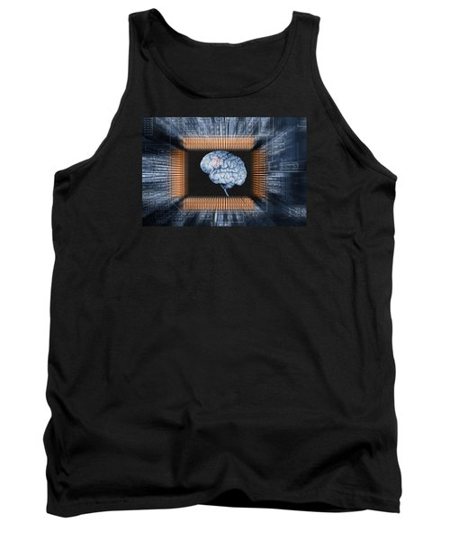 Human Brain And Communication Tank Top