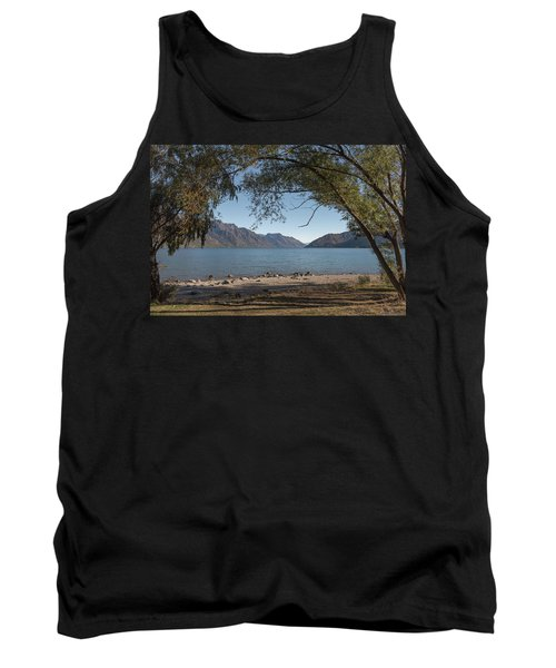 Tank Top featuring the photograph Lake Wakatipu Shore Early Morning by Gary Eason