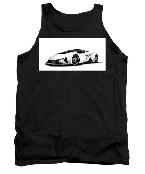 Tank Top featuring the digital art Lamborghini by Brian Gibbs