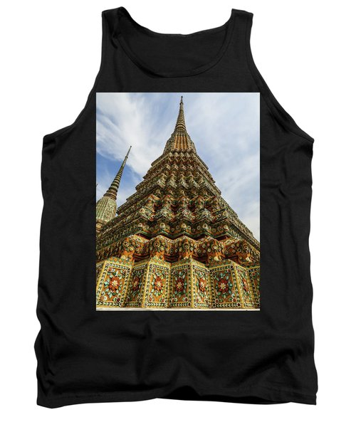 Large Colorful Stupa At Wat Pho Temple Tank Top