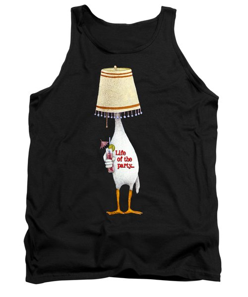 Tank Top featuring the painting Life Of The Party... by Will Bullas