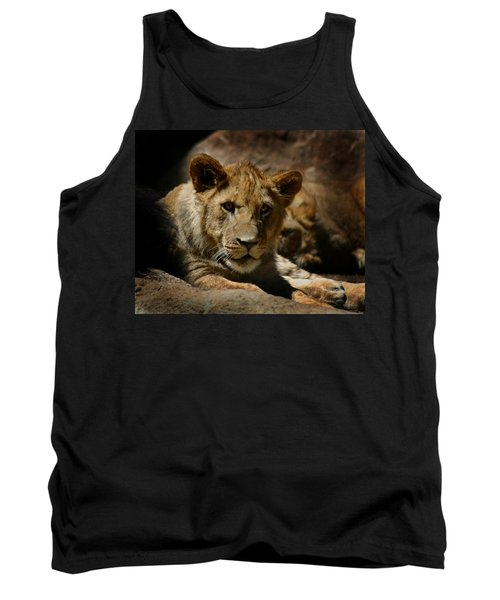 Lion Cub Tank Top by Anthony Jones