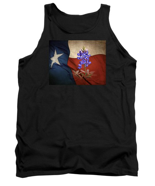 Lone Star Bluebonnet Tank Top by David and Carol Kelly