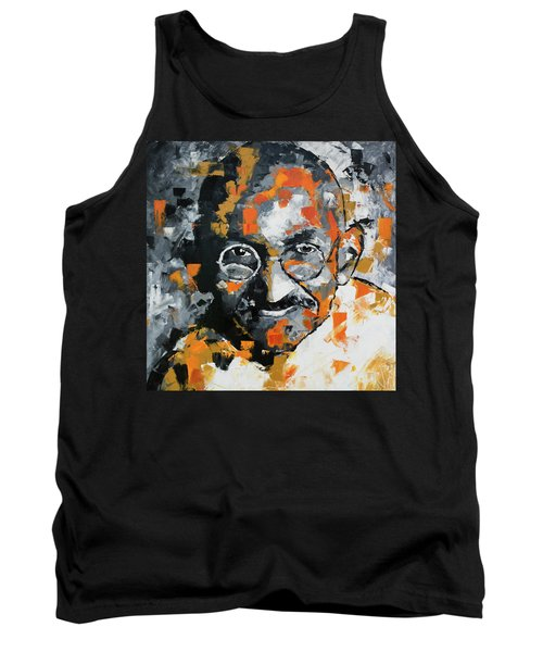 Tank Top featuring the painting Mahatma Gandhi by Richard Day