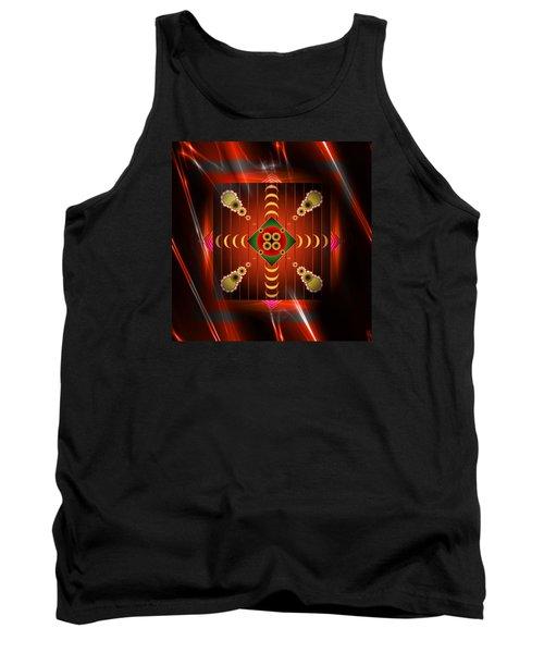 Tank Top featuring the digital art Mandala Burning by Mario Carini