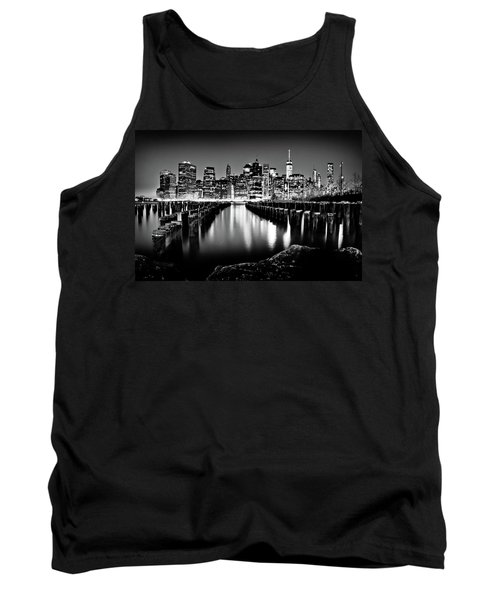 Tank Top featuring the photograph Manhattan Skyline At Night by Az Jackson