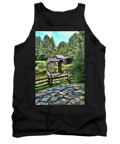 Tank Top featuring the photograph Marby Mill Pathway by Paul Ward