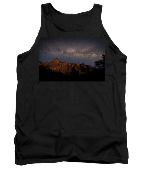 Milky Way Galaxy Over Zion Canyon Tank Top