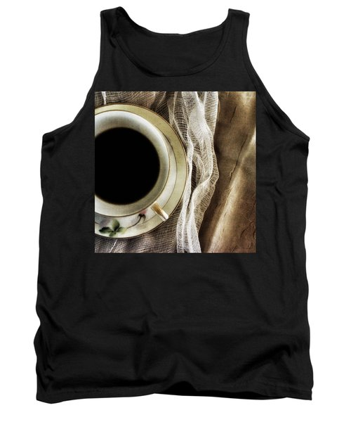 Tank Top featuring the photograph Morning Coffee by Bonnie Bruno