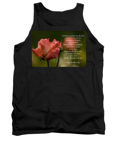 Tank Top featuring the photograph Mother's Day Card 5 by Michael Cummings