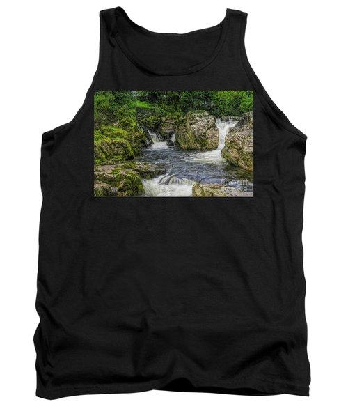 Mountain Waterfall Tank Top by Ian Mitchell