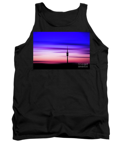 Tank Top featuring the photograph Munich - Olympiaturm At Sunset by Hannes Cmarits