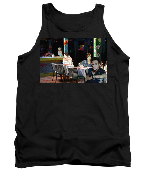 Tank Top featuring the painting Starry  Night by Judy Kay