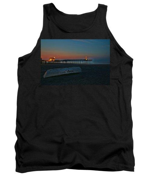 Ocean City  N J Sunrise Tank Top by Allen Beatty