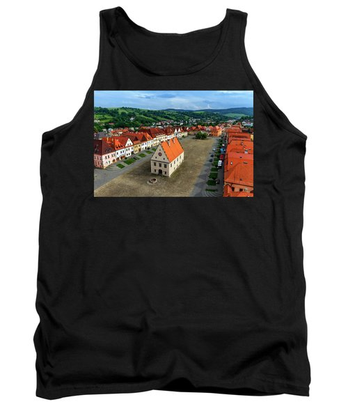 Old Town Square In Bardejov, Slovakia Tank Top
