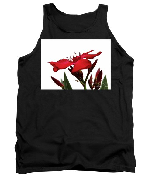 Tank Top featuring the photograph Oleander Blood-red Velvet 3 by Wilhelm Hufnagl