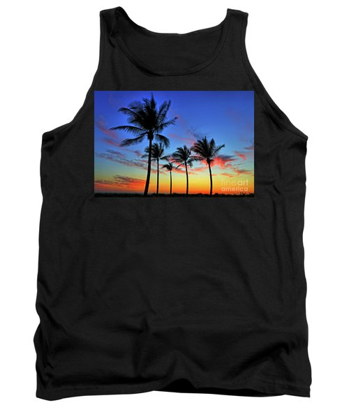 Tank Top featuring the photograph Palm Tree Skies by Scott Mahon