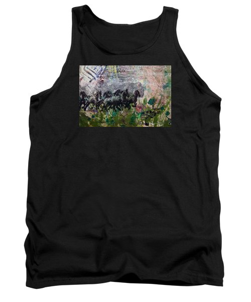 Ponies Tank Top by Ron Richard Baviello