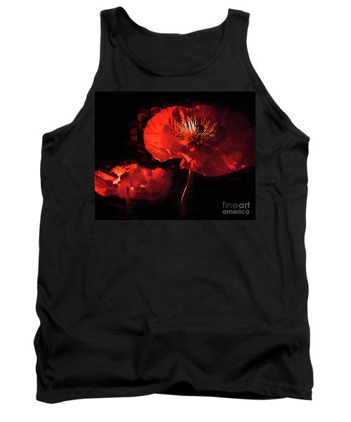 Two Red Poppies Tank Top