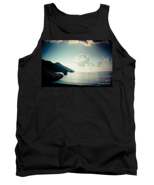 Seascape Sunrise Sea And Clouds  Tank Top