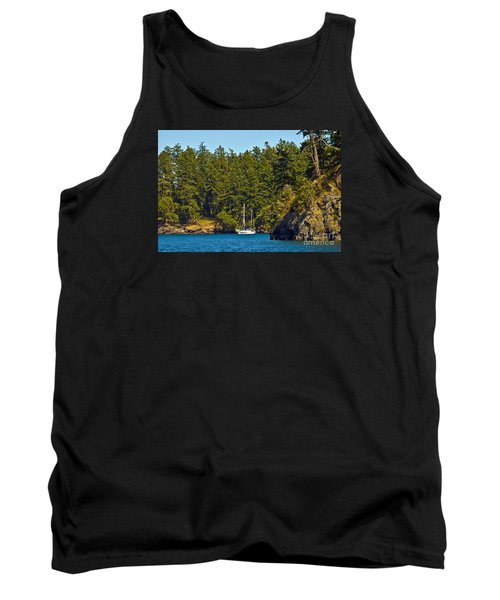 Secluded Anchorage Tank Top by Chuck Flewelling