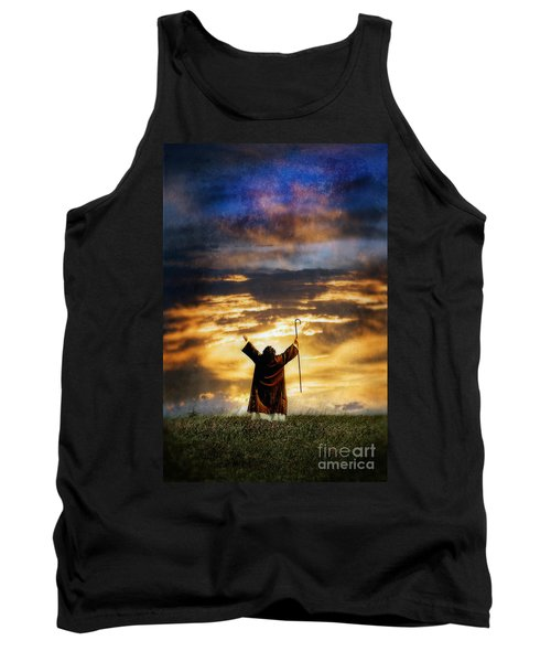 Shepherd Arms Up In Praise Tank Top by Jill Battaglia