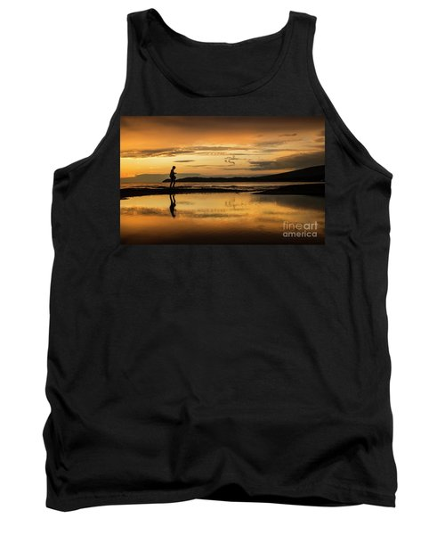Silhouette In Sunset Tank Top
