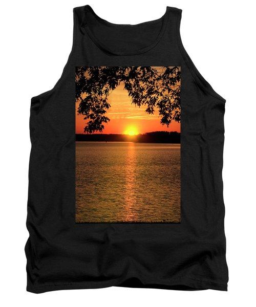 Smith Mountain Lake Silhouette Sunset Tank Top