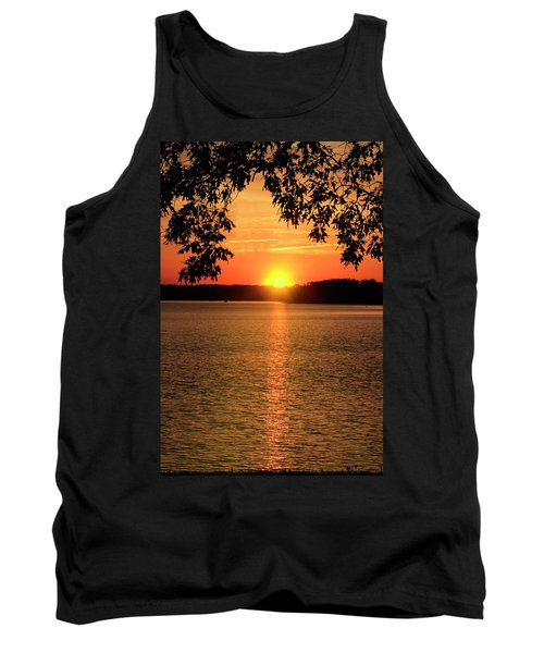 Smith Mountain Lake Silhouette Sunset Tank Top