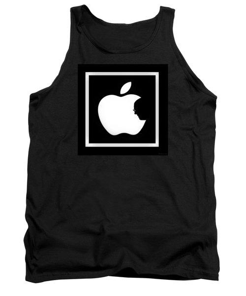 Steve Jobs Apple Tank Top by Rob Hans