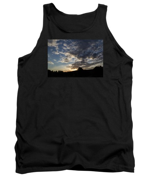 Sunset On Hunton Lane #1 Tank Top by Carlee Ojeda