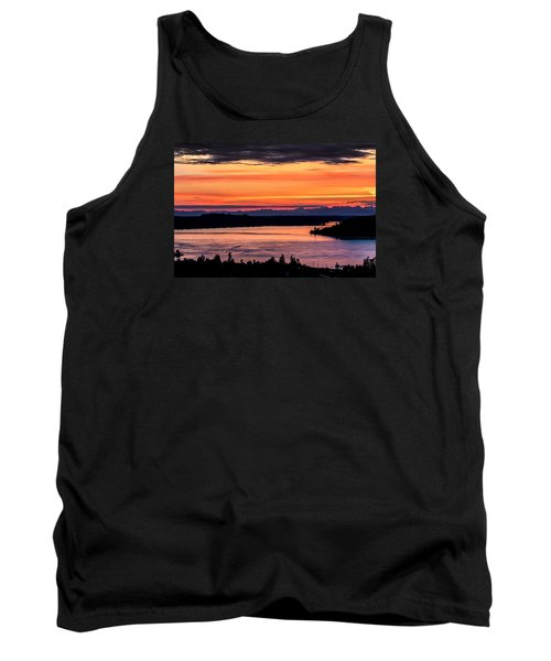 Sunset Over Hail Passage On The Puget Sound Tank Top