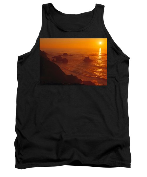 Sunset Over The Pacific Ocean Tank Top by Utah Images