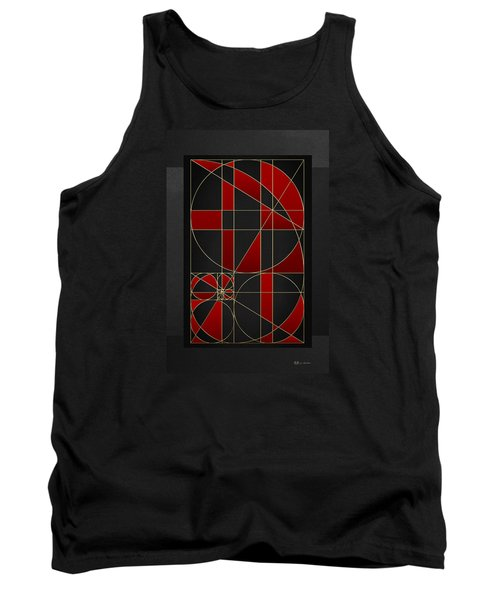 The Alchemy - Divine Proportions - Red On Black Tank Top