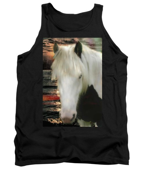 The Beautiful Face Of A Gypsy Vanner Horse Tank Top