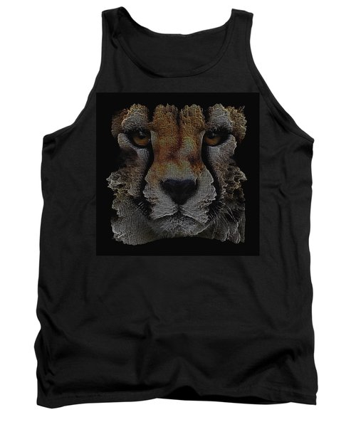 The Face Of A Cheetah Tank Top by ISAW Gallery