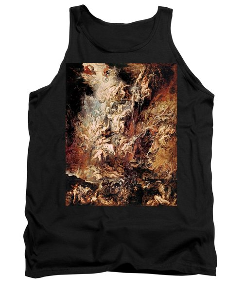 Tank Top featuring the painting The Fall Of The Damned by Peter Paul Rubens