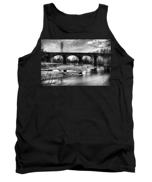 Thomas Viaduct In Black And White Tank Top