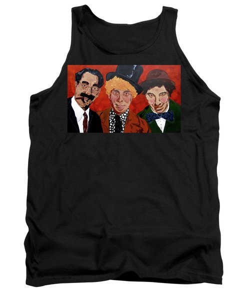 Three's Comedy Tank Top