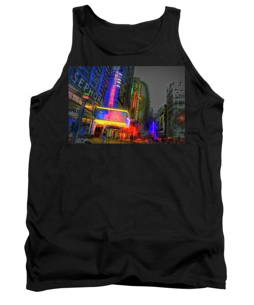 Tank Top featuring the photograph Times Square by Theodore Jones